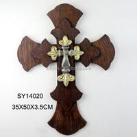 wholesale large polyresin wall cross for home decor