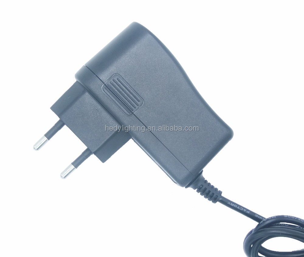 EU Type universal AC input DC output 12 watt 12v 1a power adapter