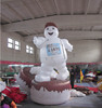 Customized inflatable tires mascot,giant inflatable mascot tire model for sale