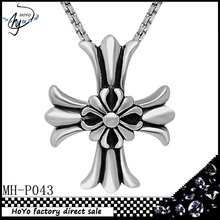 Top sale decorative design stainless steel cross pendant necklace for gift