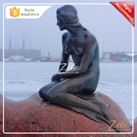 Hot Sale Outdoor Life Size bronze mermaid statue fountain