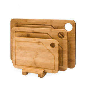 FDA Certificated Cutting Chopping Blocks 3 in 1 Bamboo Cutting Board Set