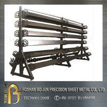 China store furniture manufacturer customized book triangle metal display racks for bookstore
