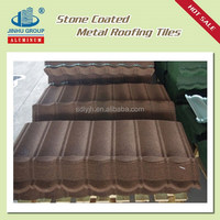 color roof tile price/stone coated steel roof tile/constructional material in Uruguay