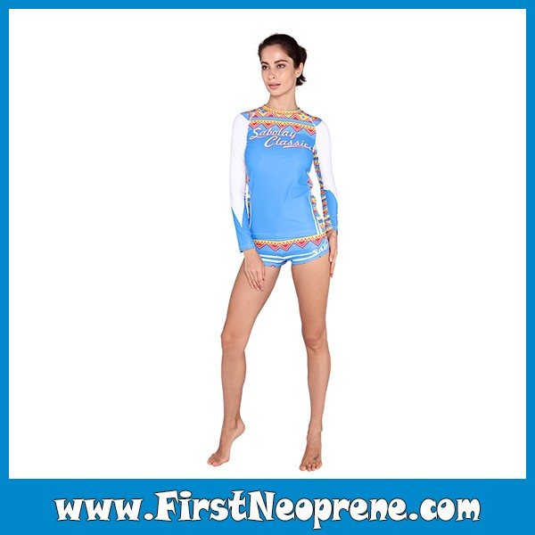 Surfing Skin Protection Stock Basic Design Rash Guards