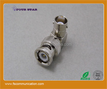 rf coaxial bnc male plug to female jack right angle connector adapter converter