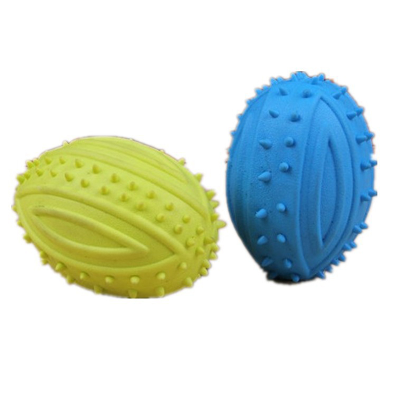 OnnPnnQ Pet Small Dog Treats Rugby Puppy Interactive Toy Ball Cat Toy for Large Dog Chew Hedgehog Toy Tooth Cleaning Bite Ball3