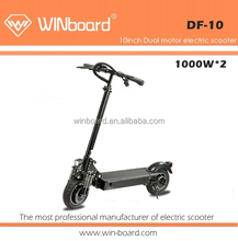 Free shipping WINboard 10inch dual motor 48V 20Ah 6 suspensions folding electric scooter 2000W