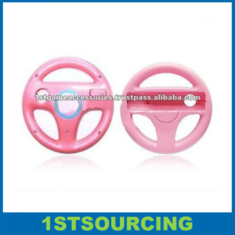 For wii wheel Gaming Racing Wheel for Nintendo Pink