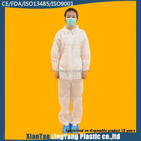 Best quality nonwoven spunboned disposable overalls/coveralls