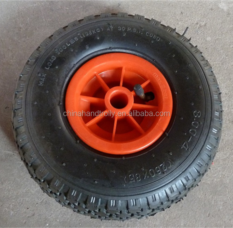 10 inch plastic wheel 3.50-4 rubber wheel used for hand push cart for sale