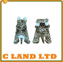 plush leopard skin style dog clothes patterns