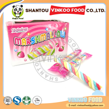 wholesale 8g long stick twisted marshmallow string candy