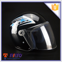 Half face type good material brown motorcycle helmet