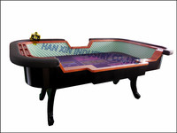 Casino LED Luxury craps poker table dimension