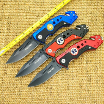 2016 hot selling two colour handle rescue knife with belt clip