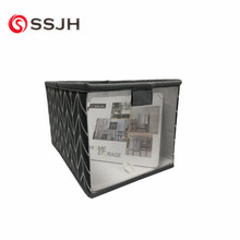 Eco friendly collapsible Rectangle Nylon mesh storage box sundry bin