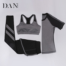 Summer Ladies Sports Workout Suit Activewear Outdoor Quick Dry Breathable Women 3 Piece Yoga Sets