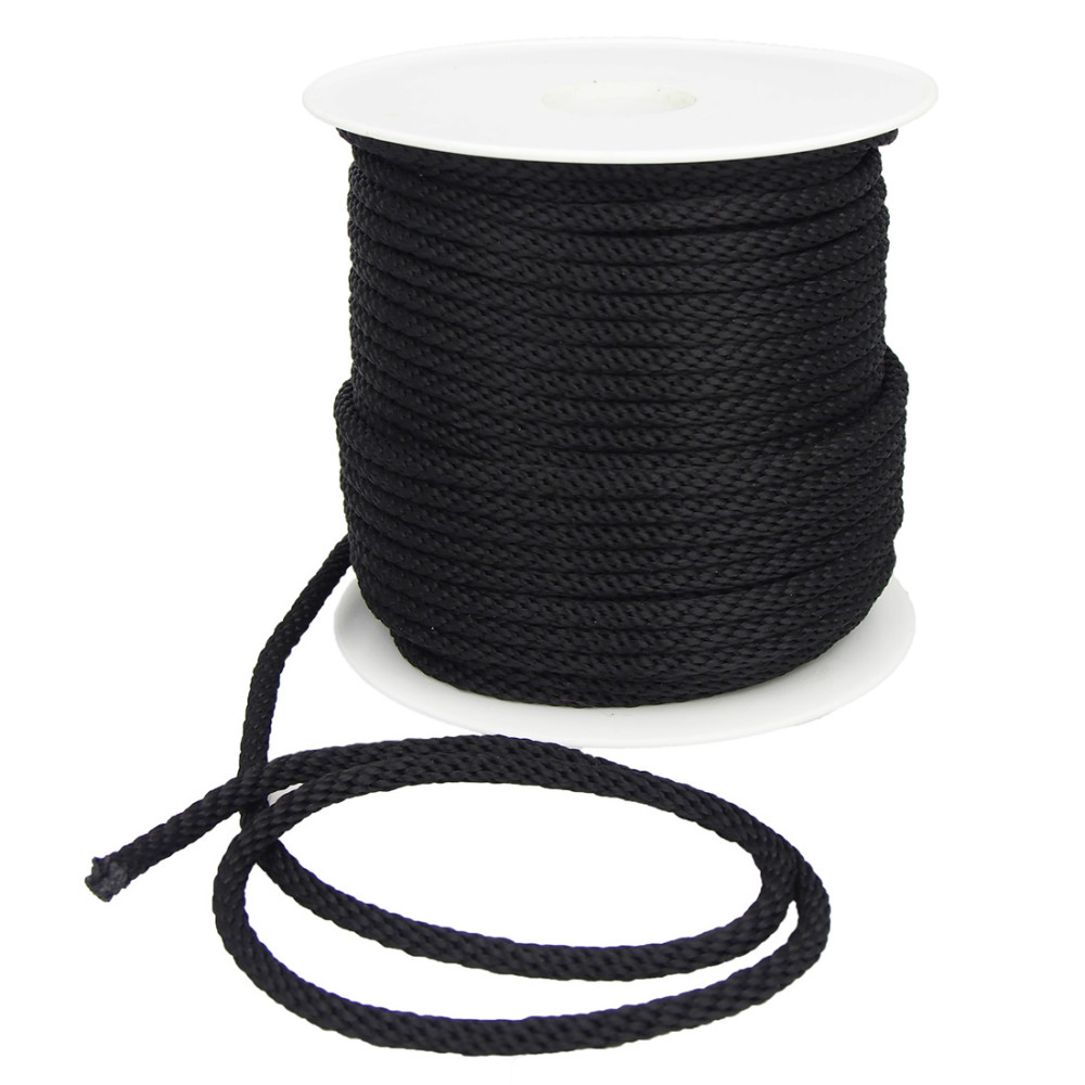 solid braided 6mm polypropylene black, View hollow braid ...