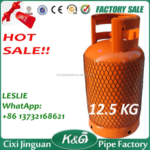 High Quality Cheap Price Cooking Application 12.5KG LPG Gas Cylinder, 12.5Kg Gas Cylinder, Cooking Gas Tank With LPG Regulator
