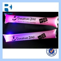 EN71 wholesale OEM PE inflatable foam glow stick/ thunder stick