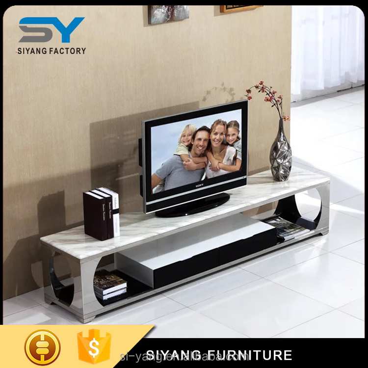2017 circle stainless steel fashion design TV stand DS005