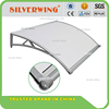 Polycarbonate transparent awning material for door and window rain shelter