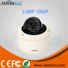 2.8-12mm P2P HD IP Camera 2.0Megapixel 1080P Super Low Lux IR Dome IP CCTV Cameras with POE