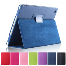 2018 hot selling litchi texture leather flip stand magnetic smart cover tablet case for iPad mini 2 3 4 Air 2 Pro