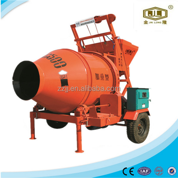 Portable concrete mixing machine beton mixer JZC500 cellular lightweight concrete foaming agent popolar in China
