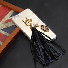 Newest tassel ornament mobile case for iphone 6 wholesale