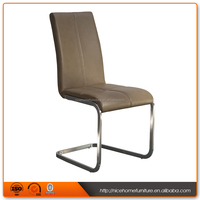 2016 Modern Stainless Steel Legs Dining Chair