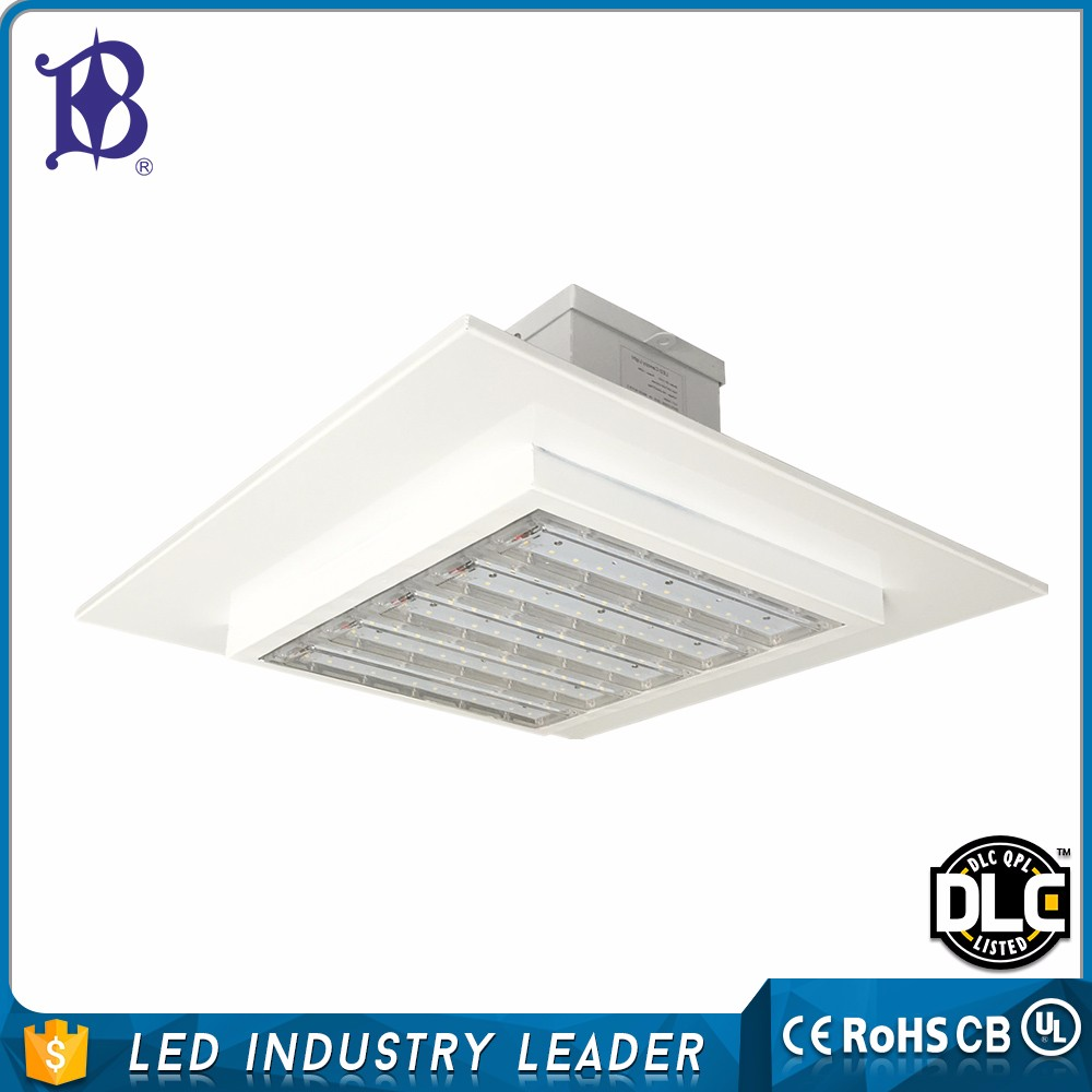 120W Recessed LED canopy lights for explosion gas station