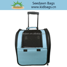Trolley Pet Carrier Bag with Mesh Air Breath Panel