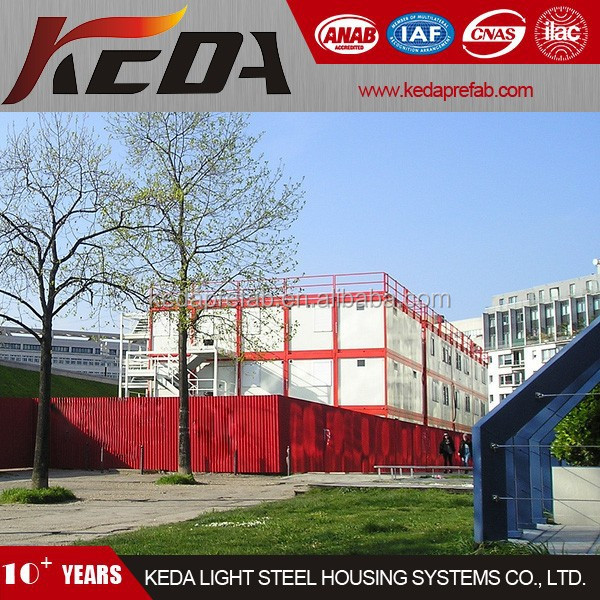3 Two Storey Prefabricated Container Office Building and School Education and Restaurant 390