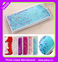 JESOY Moving Stars Liquid Glitter Quicksand 3D Bling For iPhone 6 6plus Phone Case Cover