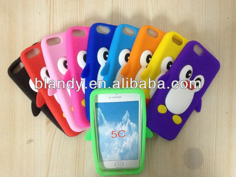 The panda 3D cute Silicone soft cover Case for iphone 5c