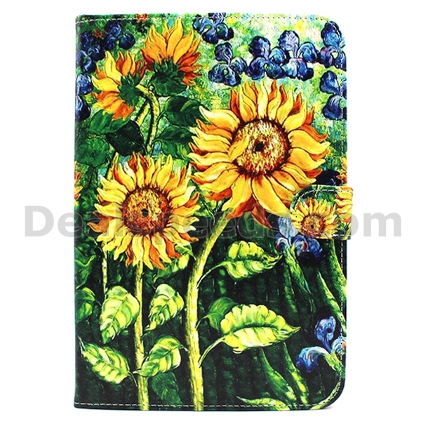 Sunflower filp Stand PU Leather Case Cover for iPad Mini 4