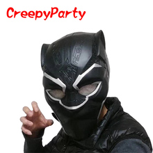 Black Panther Mask NEW - Realistic Latex Halloween Movie Head Mask - Marvel Super Hero Party Costume CreepyParty