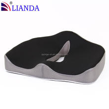 LOGO Branded Mesh Fabric Orthopedic Memory Foam Coccyx Gel Seat Cushion With Carry Handle