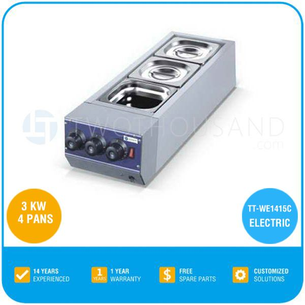 4 Pans Electric Melting Pot Chocolate TT-WE1415C From Twothousand Machinery