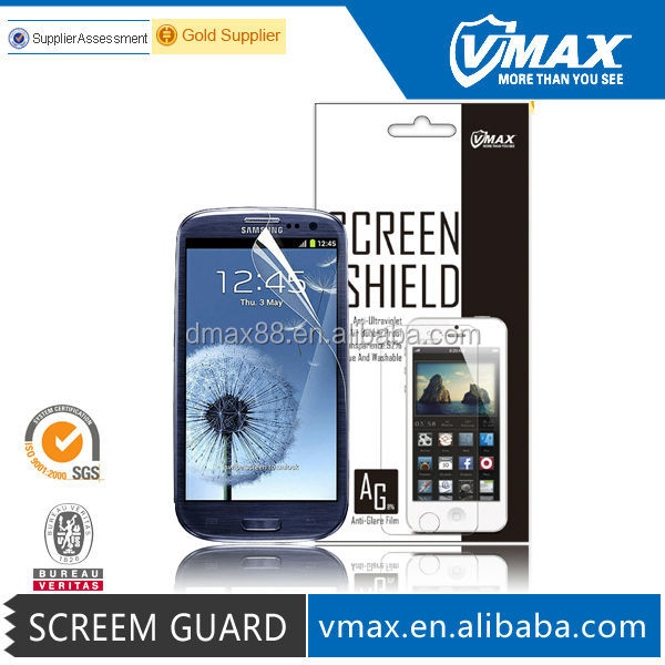 Manufacturer Price Hardness 4h screen guard for Samsung galaxy s3 oem/odm (Anti-Glare)