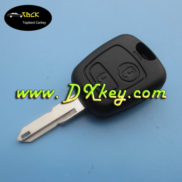 Outstanding price for peugeot 206 remote key 2 buttons remote key 434 MHz ID46 Chip