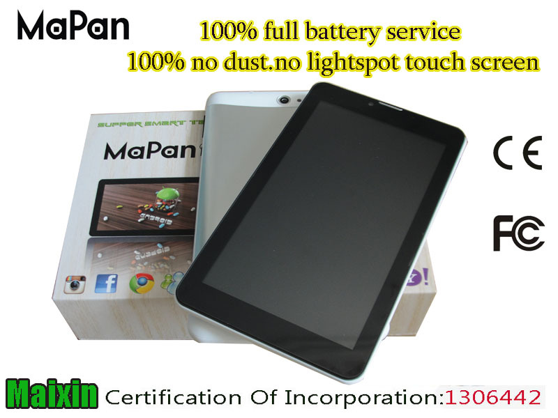 Hot sale Android Tablet PC with Leather Keyboard / Mini Laptop Notebook 3G Phone call Tablets