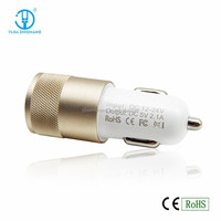 New 2015 Bullet 5V 2.4A Dual USB Car Charger CE RoHS Phone Accessories