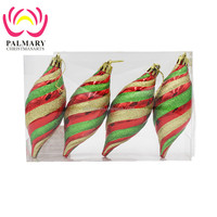 Hot Promotional Spiral Christmas Ornament With Different Color For Ornaments