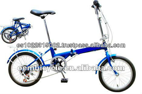 16 inch 6 speed smaller energy-saving safe folding bike
