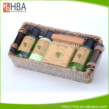 Basket packaging hotel oem brand name body lotion bubble bath shower gel
