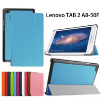 Tablet case For Lenovo Tab 2 A8 Flip Stand PU Leather Protective Case Cover