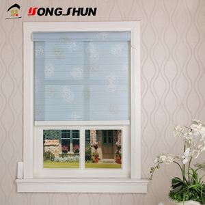 Indoor fancy shangri-la style automatic wireless remote motorized roller blind